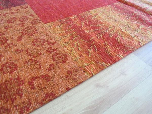 Teboshop  Vintage Teppich Alaska im Retrolook in Apfelgrün